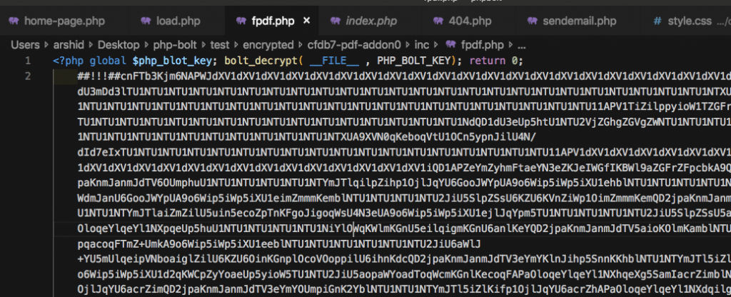 Encrypt php source code